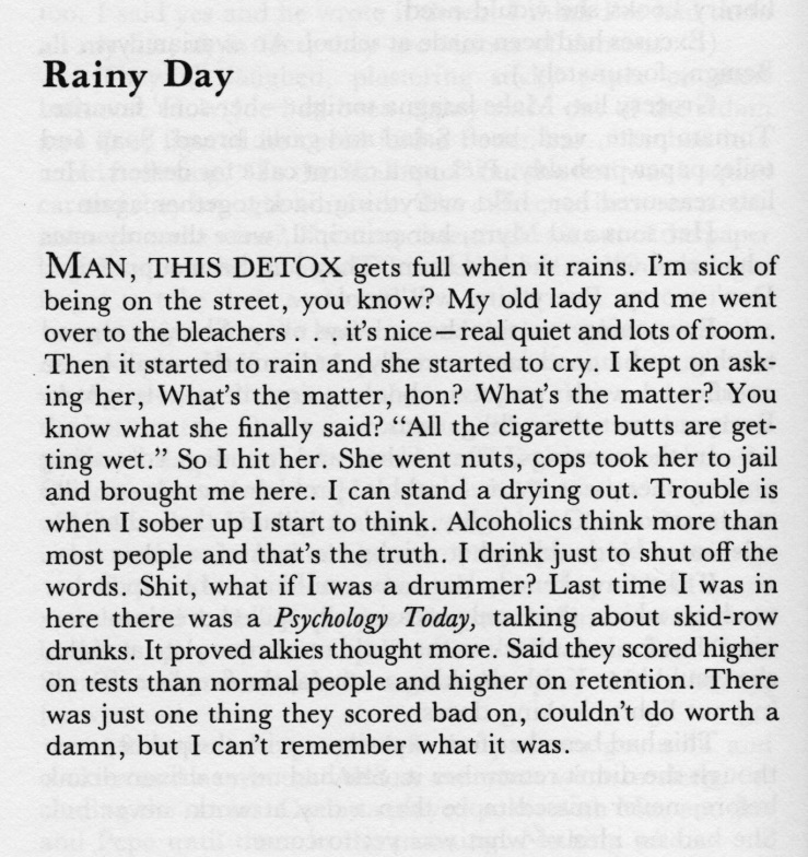 describe a rainy day essay