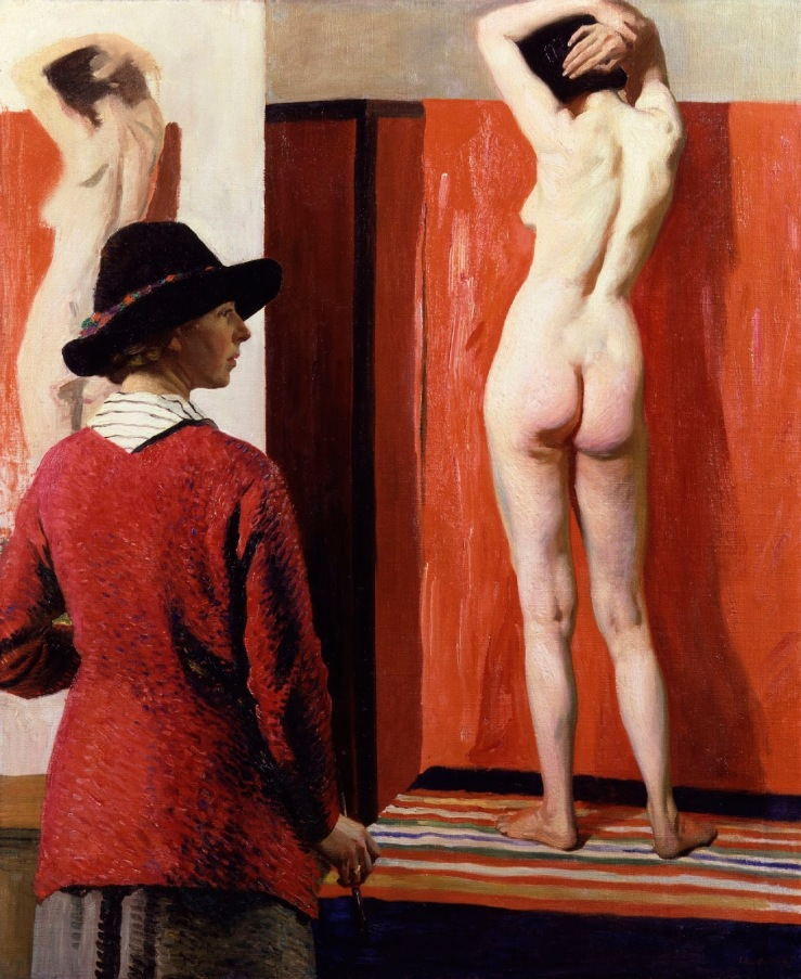 self-portrait_with_a_nude_by_dame_laura_knight