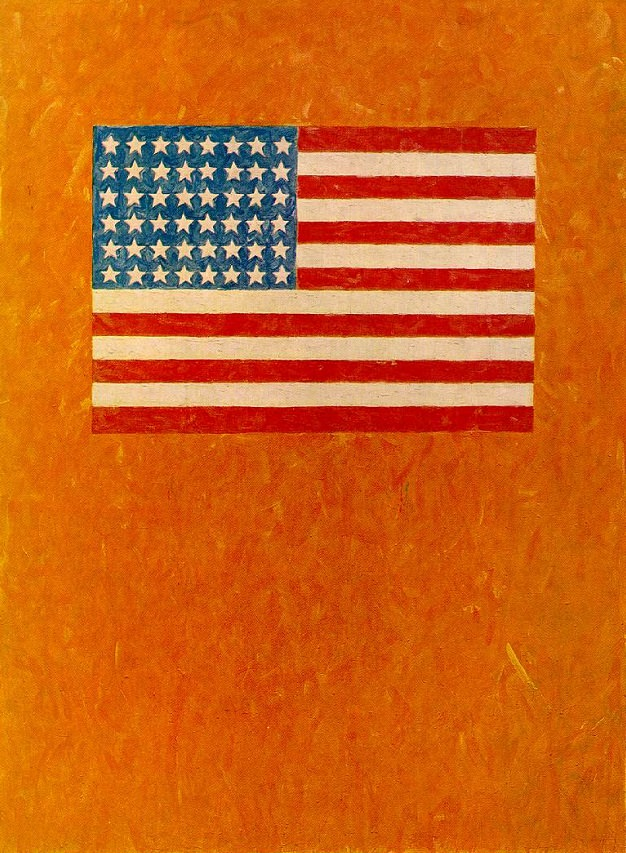 Flag On Orange Field Jasper Johns Biblioklept