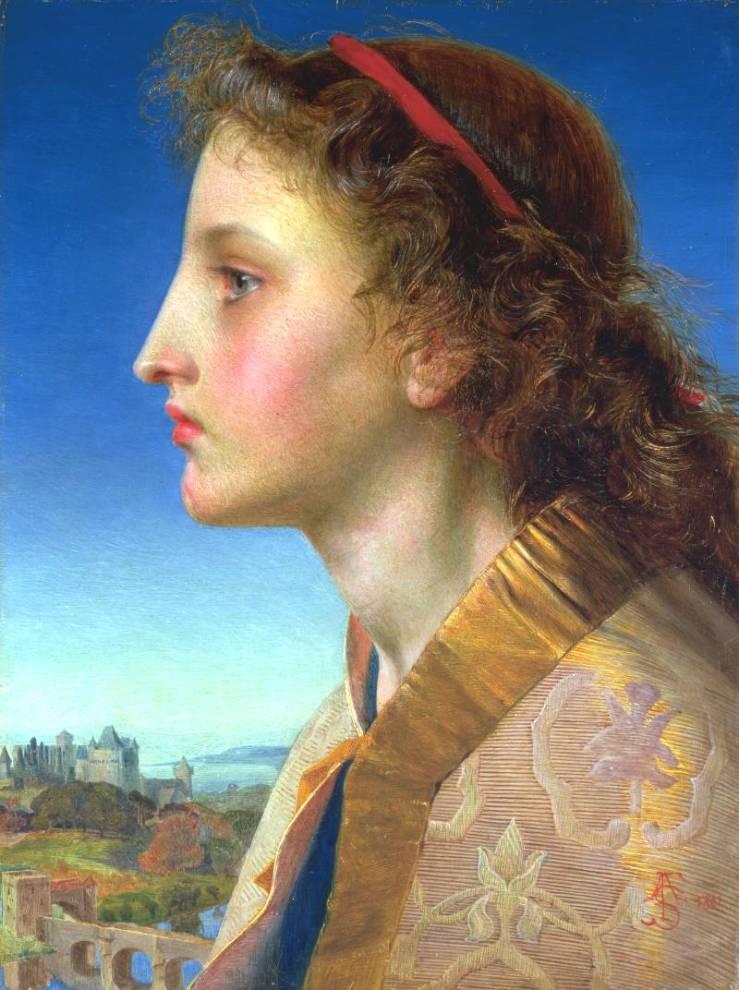 Oriana 1861 by Frederick Sandys 1829-1904