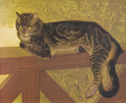 the-summer-cat-on-a-balustrade-1909