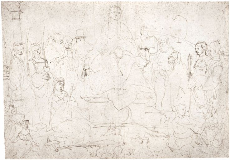 studies-on-a-great-picture-of-the-virgin-madonna-with-child-ten-saints-and-angels