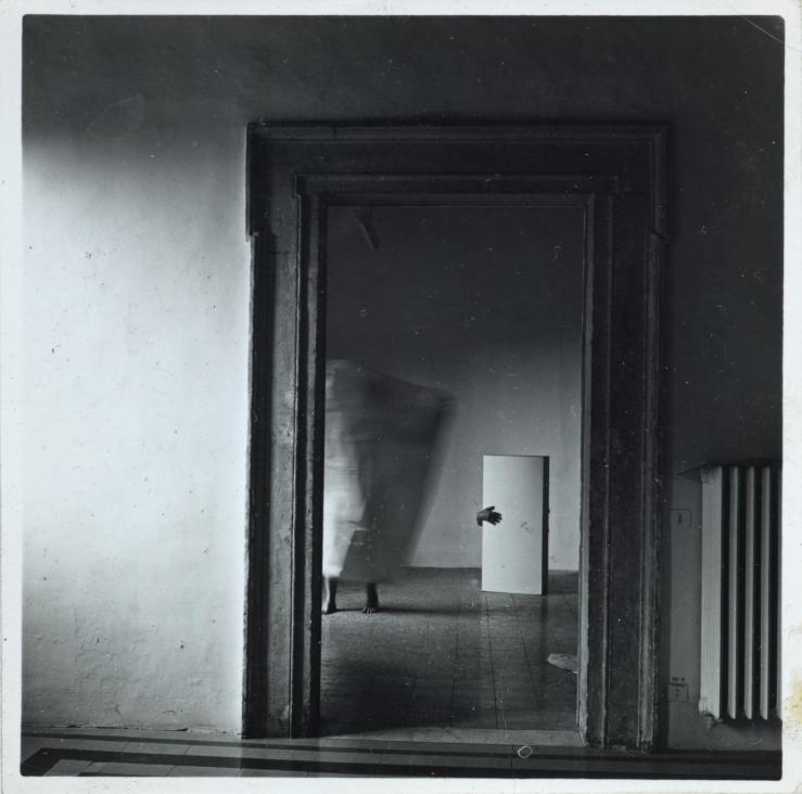 From Angel Series, Roma, September 1977 1977 by Francesca Woodman 1958-1981