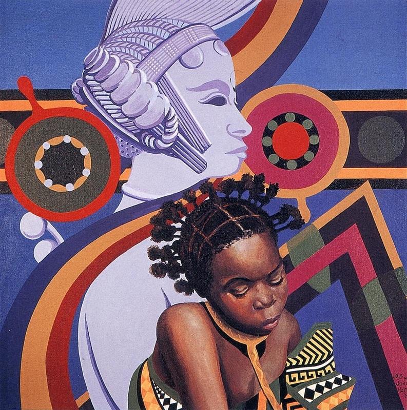 Afro Black Girl Shower Curtain African American Women