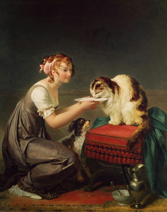 le-dejeuner-du-chat-the-cats-lunch-oil-painting-marguerite-gerardmusee-fragonard-grasse-france