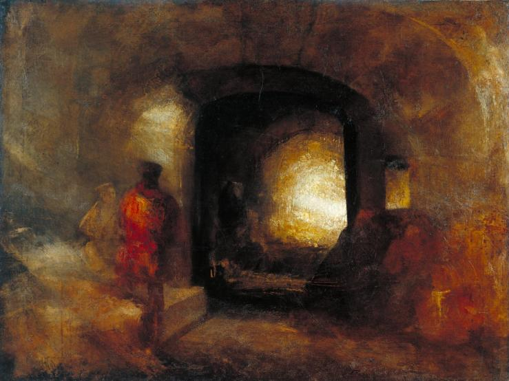 Figures in a Building c.1830-5 by Joseph Mallord William Turner 1775-1851