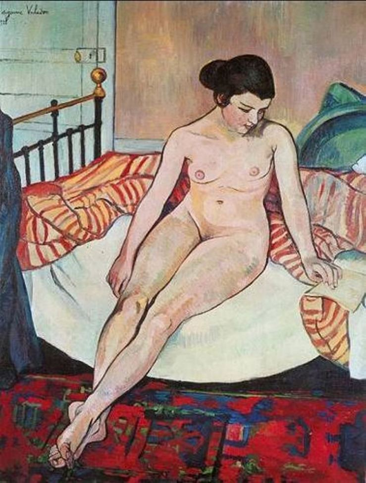 suzanne-valadon-nude-with-a-striped-blanket-1922
