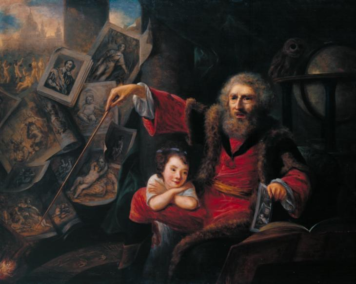 Sketch for 'The Conjuror' 1775 by Nathaniel Hone 1718-1784