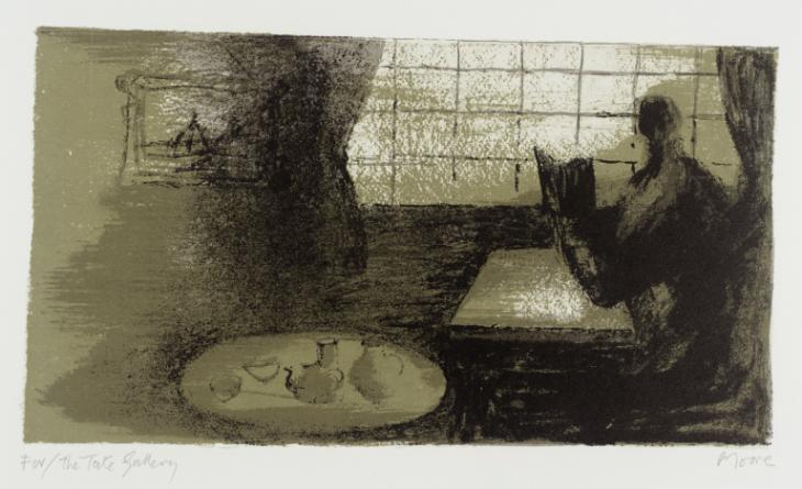 Girl Reading at Window 1977-8 by Henry Moore OM, CH 1898-1986