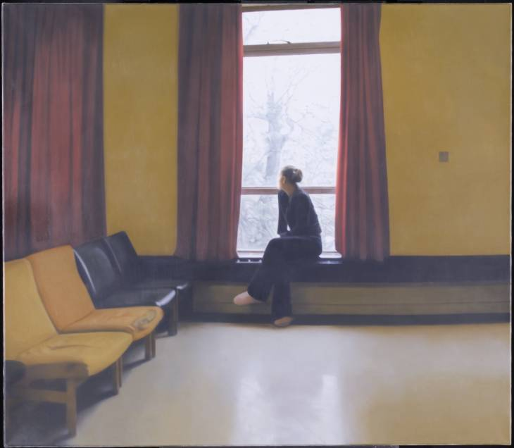 Woman at a Window 2 2003 by Paul Winstanley born 1954
