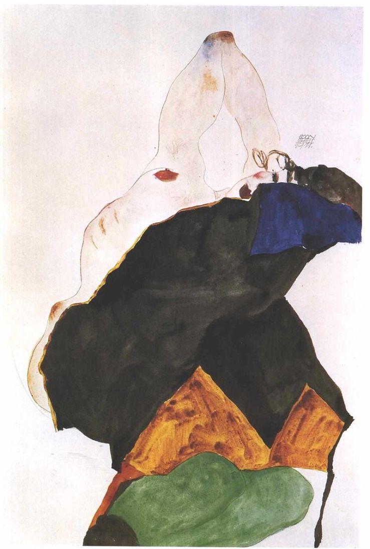 800px-Schiele_-_Mädchen_mit_erhobenen_Ellenbogen_-_1911