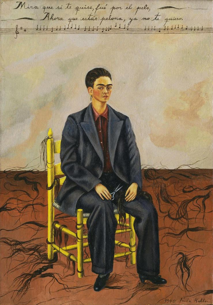 self-portrait-with-cropped-hair-by-frida-kahlo-1940