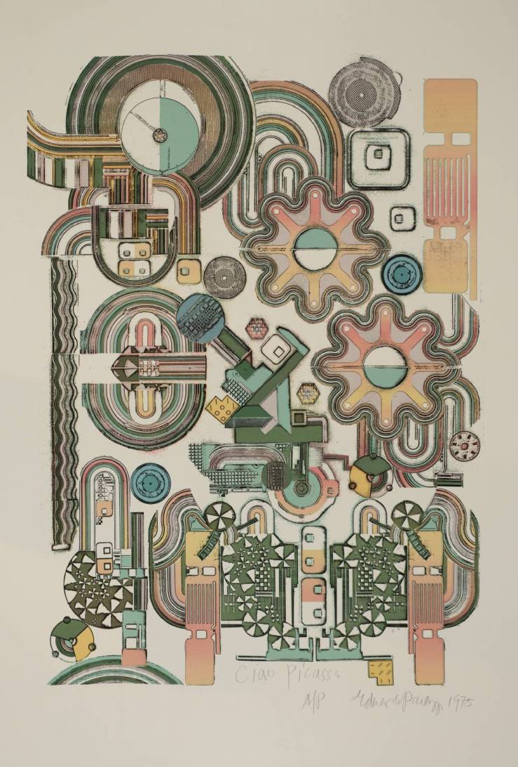 Ciao Picasso 1975 by Sir Eduardo Paolozzi 1924-2005
