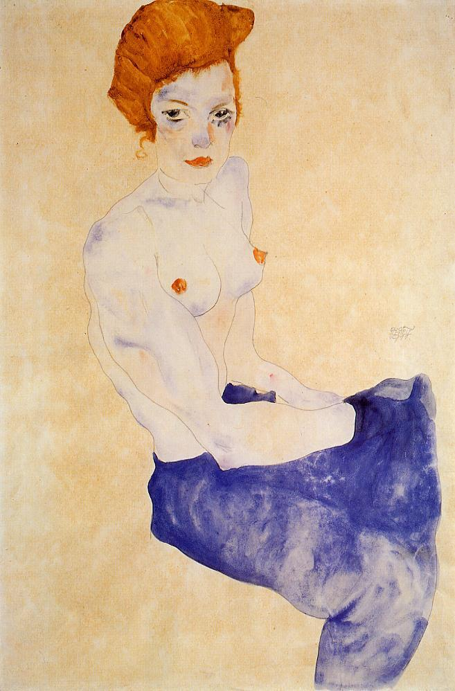 seated-girl-with-bare-torso-and-light-blue-skirt-1911