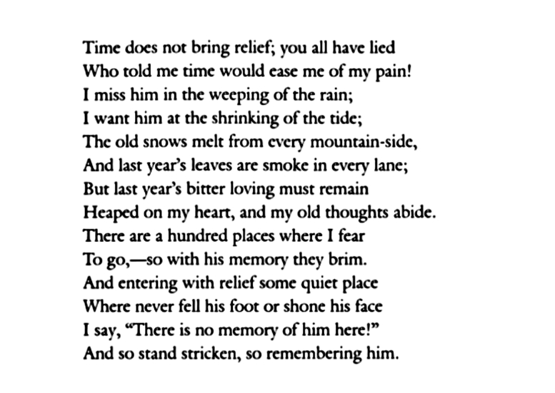 edna st vincent millay poetry analysis