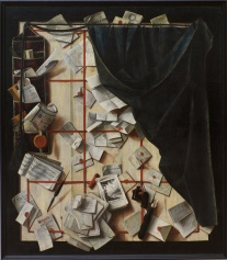 Cornelius_Norbertus_Gijsbrechts_-_Trompe_l'oeil._Board_Partition_with_Letter_Rack_and_Music_Book_-_Google_Art_Project