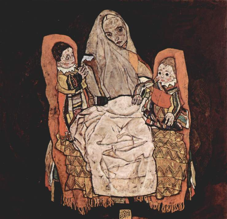 mother-with-two-children-1917