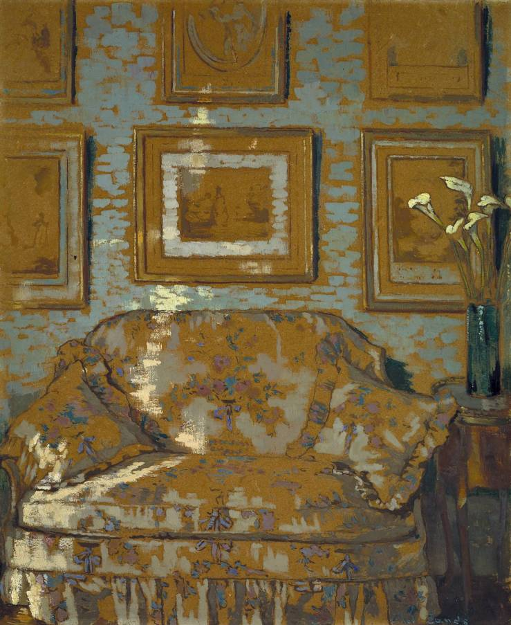 The Chintz Couch c.1910-11 by Ethel Sands 1873-1962