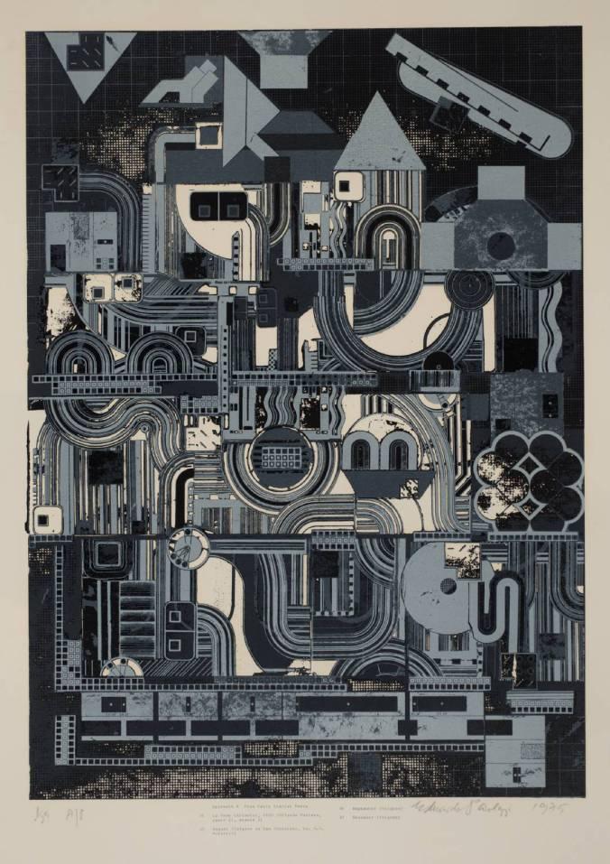 From Early Italian Poets 1974-6 by Sir Eduardo Paolozzi 1924-2005