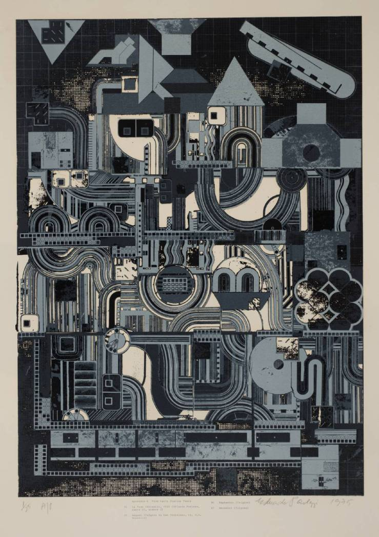 From Early Italian Poets 1974-6 by Sir Eduardo Paolozzi 1924-2005
