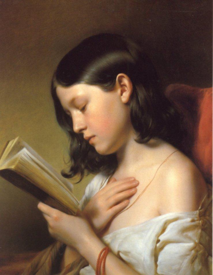 franz-eybl-jeune-fille-lisant-1850