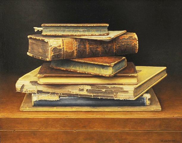 boekenstilleven-24-x-30-cm-olieverf-op-paneel