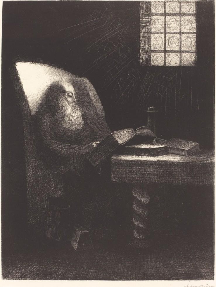 odilon-redon-le-liseur-the-reader-1892