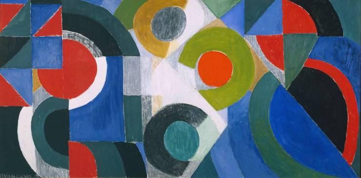 Triptych 1963 by Sonia Delaunay 1885-1979
