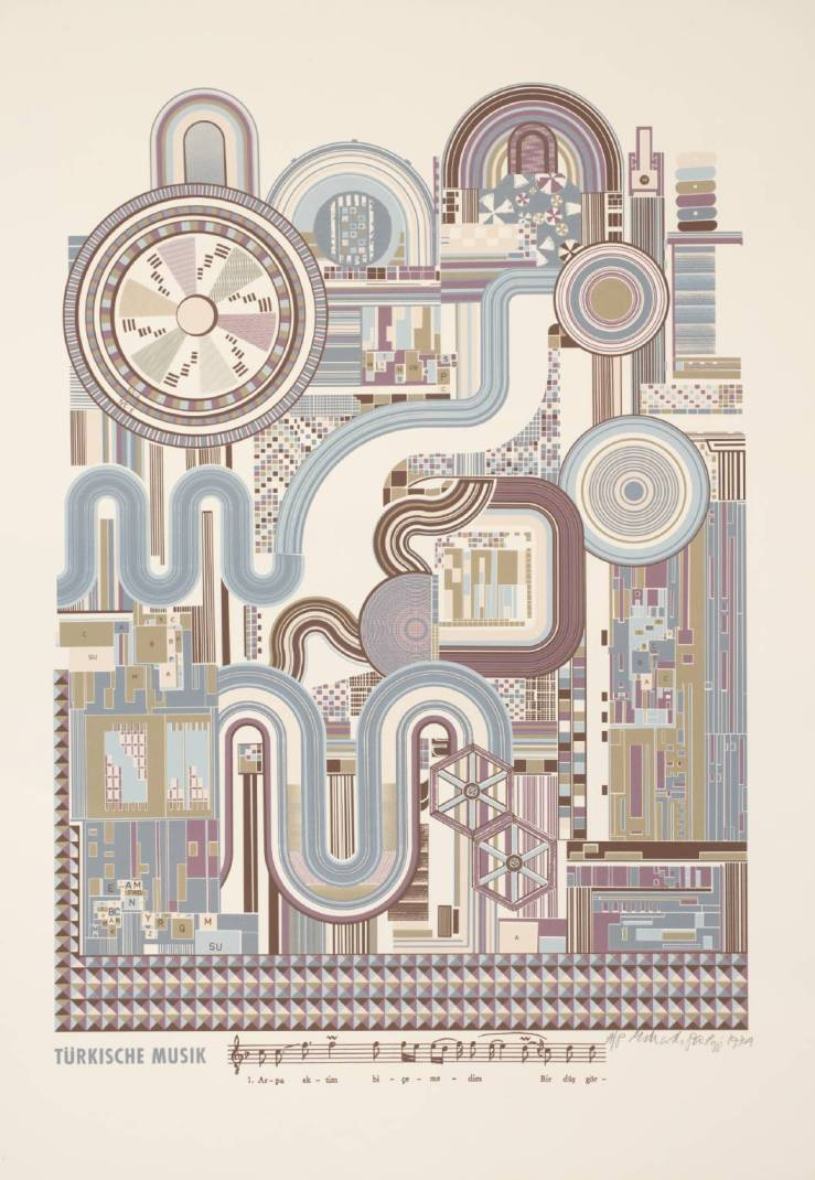 Turkish Music 1974 by Sir Eduardo Paolozzi 1924-2005