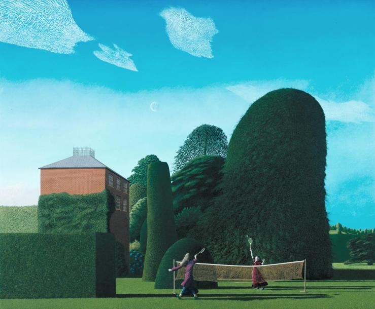 The Badminton Game 1972-3 by David Inshaw born 1943