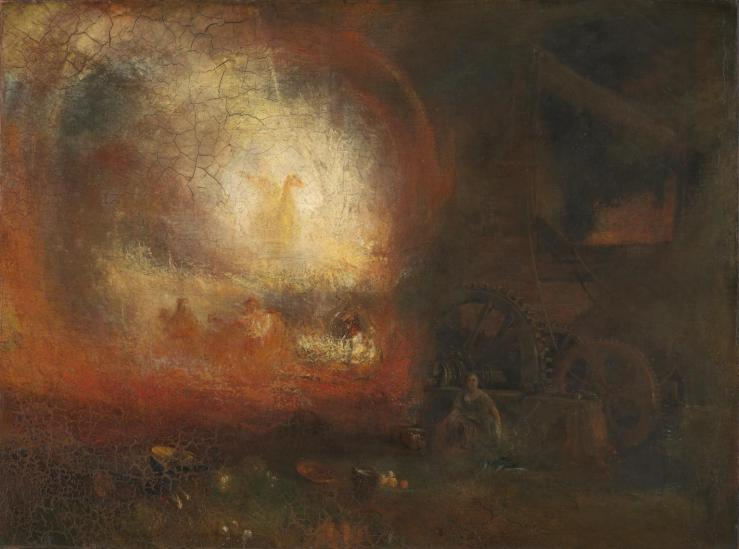 The Hero of a Hundred Fights c.1800-10, reworked and exhibited 1847 by Joseph Mallord William Turner 1775-1851