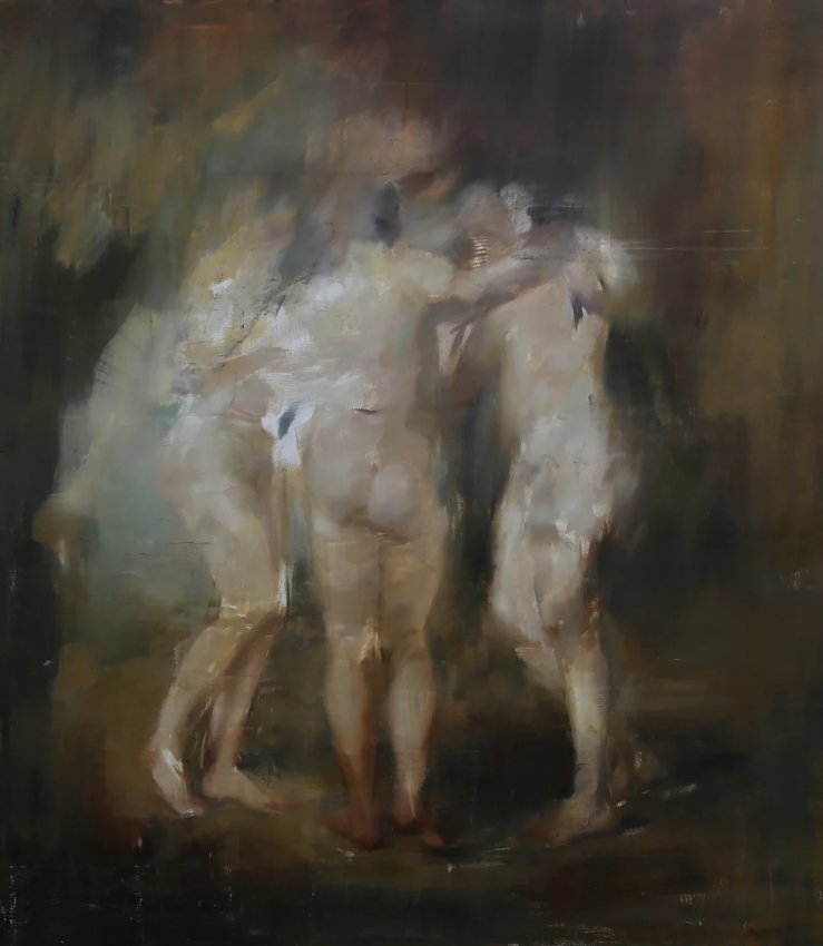 The Three Graces, after Rubens, 160x140c