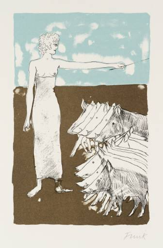 Circe 1973-4 by Dame Elisabeth Frink 1930-1993