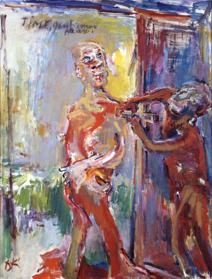 Time, Gentlemen Please 1971-2 by Oskar Kokoschka 1886-1980