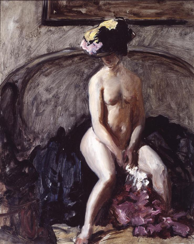 Seated Nude: The Black Hat c.1900 by Philip Wilson Steer 1860-1942