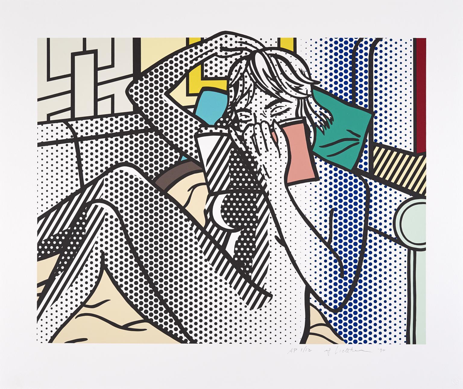 Nude Reading 1992 by Roy Lichtenstein 1923-1997