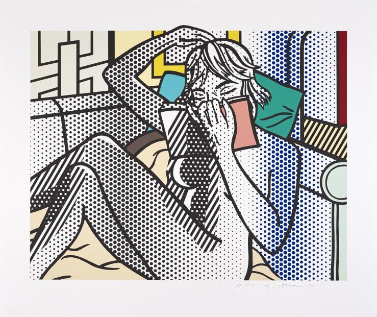 Nude Reading 1992 by Roy Lichtenstein 1923-1997