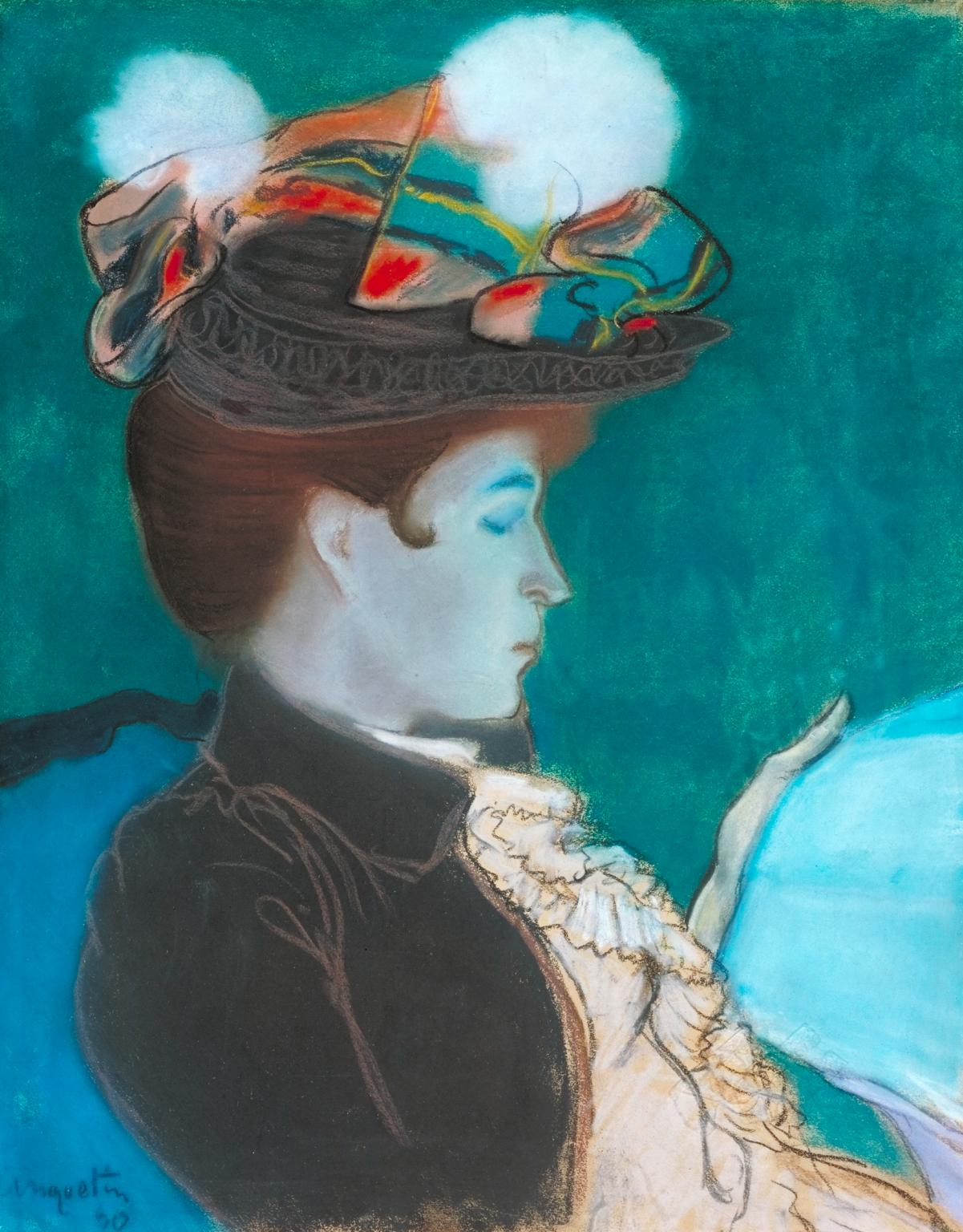 Girl Reading a Newspaper 1890 by Louis Anquetin 1861-1932