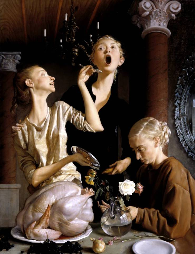 Thanksgiving 2003 by John Currin born 1962