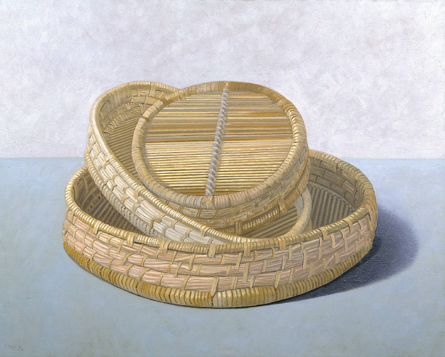 Three Baskets 1995 by Stephen McKenna born 1939