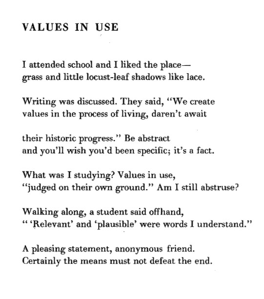 values in use