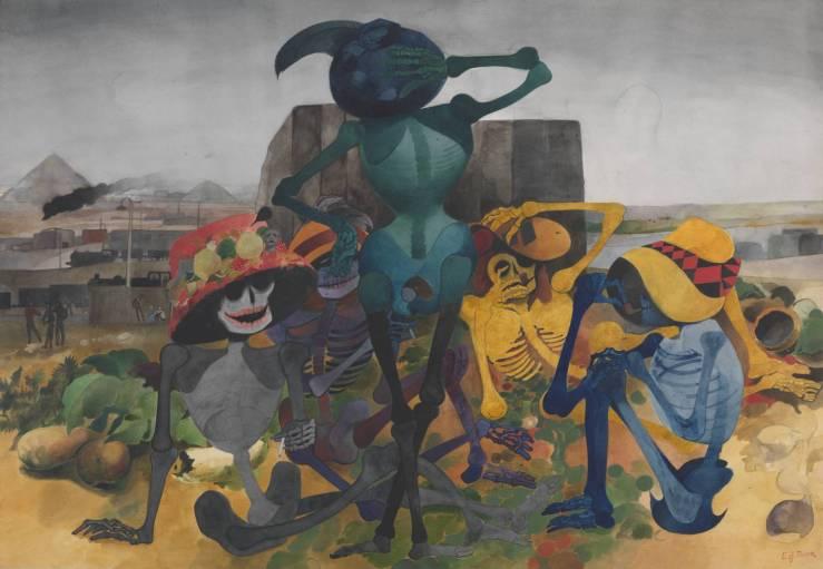 Skeleton Party circa 1952-4 by Edward Burra 1905-1976