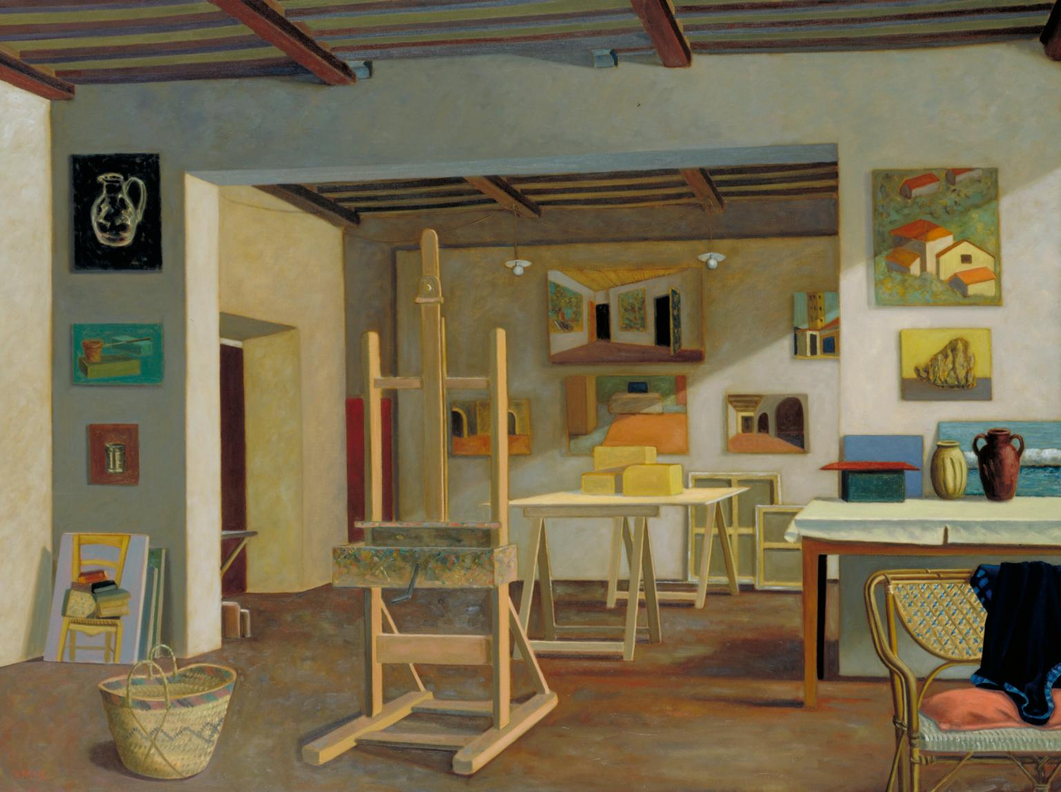 Large Studio at Castiglion 1993 by Stephen McKenna born 1939