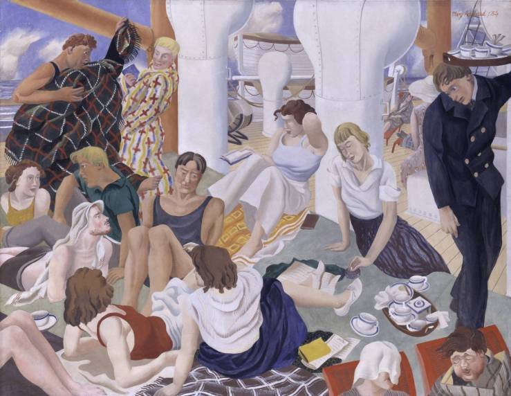 The Cruise 1934 by Mary Adshead 1904-1995