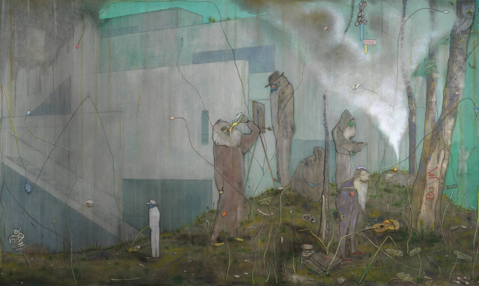 New Accursed Art Club 2007 by Nigel Cooke born 1973