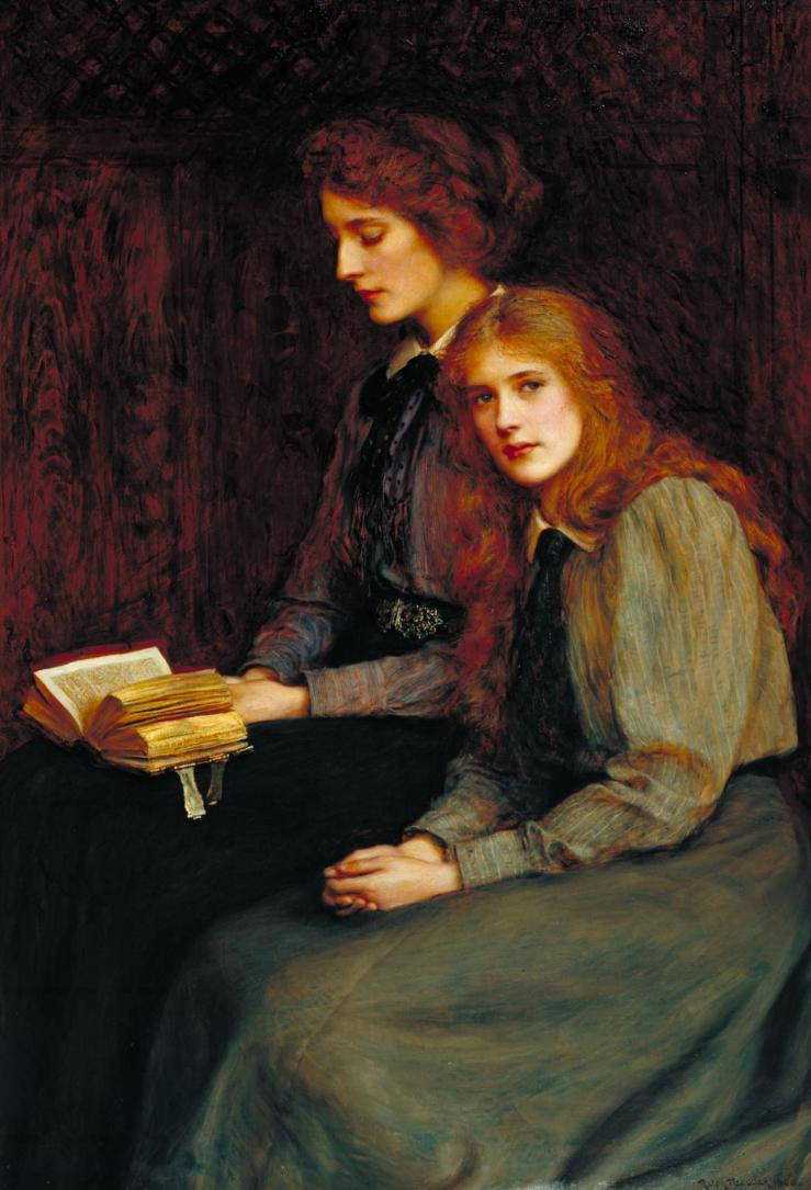 The Sisters 1900 by Ralph Peacock 1868-1946
