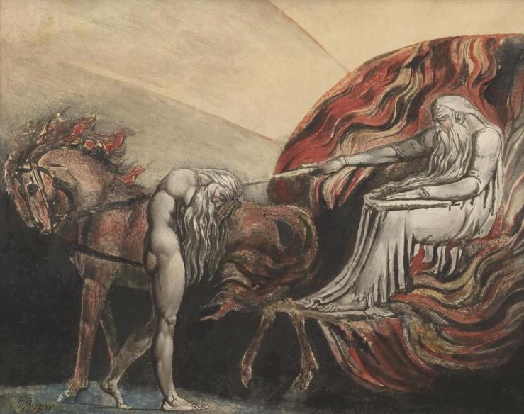 God Judging Adam 1795 by William Blake 1757-1827