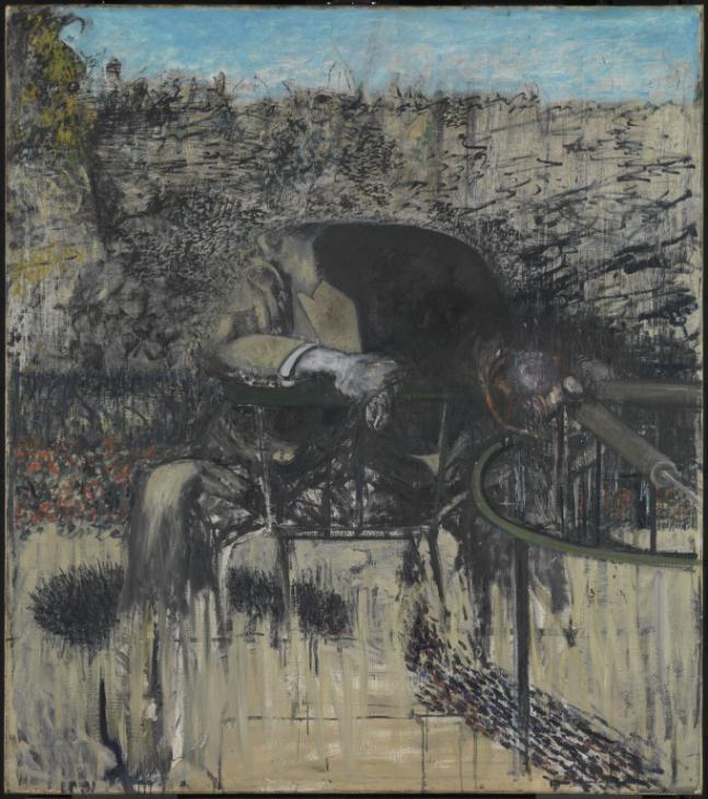 Figure in a Landscape 1945 by Francis Bacon 1909-1992