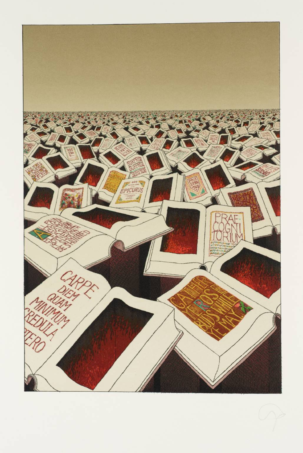 Canto X: [no title] 1982 by Tom Phillips born 1937