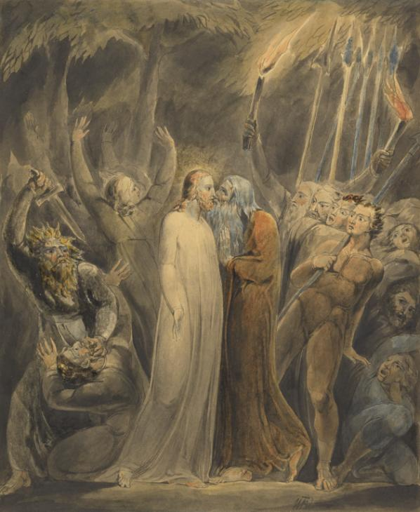 Judas Betrays Him c.1803-5 by William Blake 1757-1827